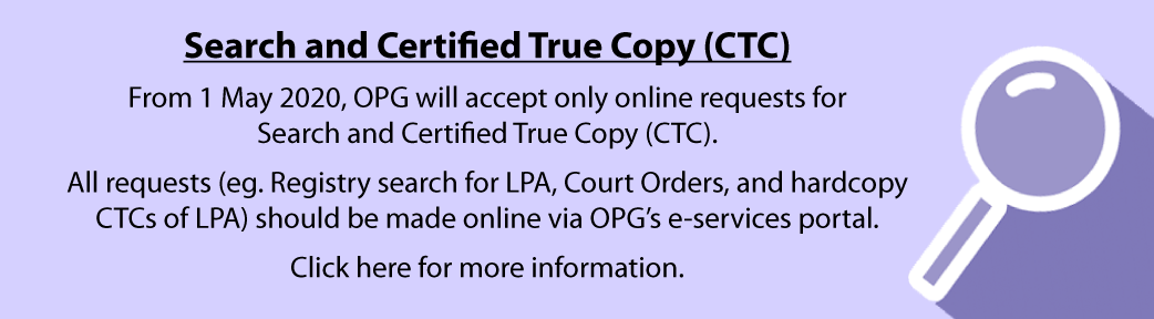Search and Certified True Copy (CTC) Requests