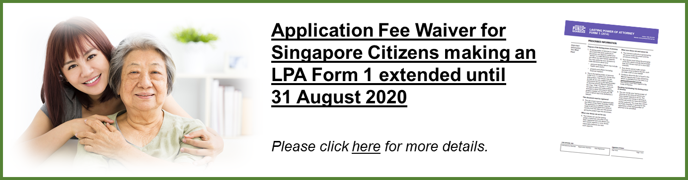 LPA Application Fee Waived for Another Two Years